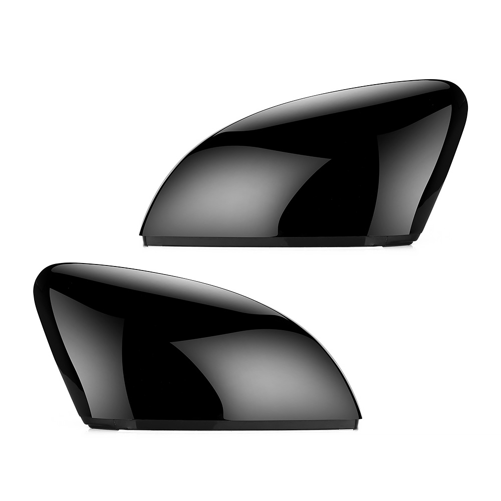 2pcs Side Wing Mirror black Cover Caps for VW <font><b>Golf</b></font> 7 MK7 7.5 GTD <font><b>R</b></font> GTI MK6 6 Polo 6R 6C Scirocco Passat B7 Jetta MK6 Beetle image