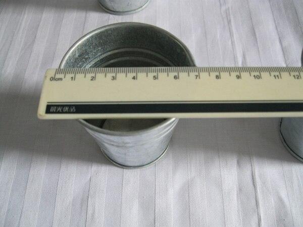 20Pcs / Lot D7XH7CM Silvery Metal Planter - Бақша өнімдері - фото 4