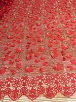 5 Colors Red White Wine Red Rose Red French Chiffon Lace Nigeria Craft African Embroidery Evening