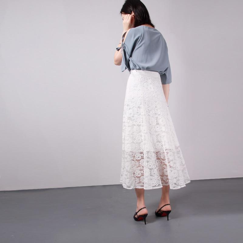 Plus Blanco Mujeres 2xl Negro De Encaje Las Gratis Envío 100 2019 Tamaño Algodón Mid Formal S calf Faldas Verano Y Vestido Primavera x6wqEpnC04