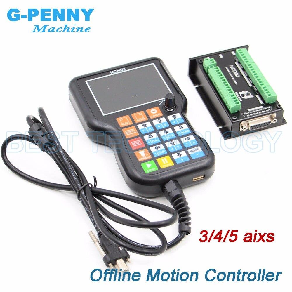 Оффлайн motion контроллер независимого контроллера 3 оси/4 Ось/5 оси заменить Mach3 контроллер шагового двигателя