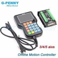 Offline motion controller Independent controller 3 axis/4 axis/5 axis replace Mach3 controller Stepper motor controller