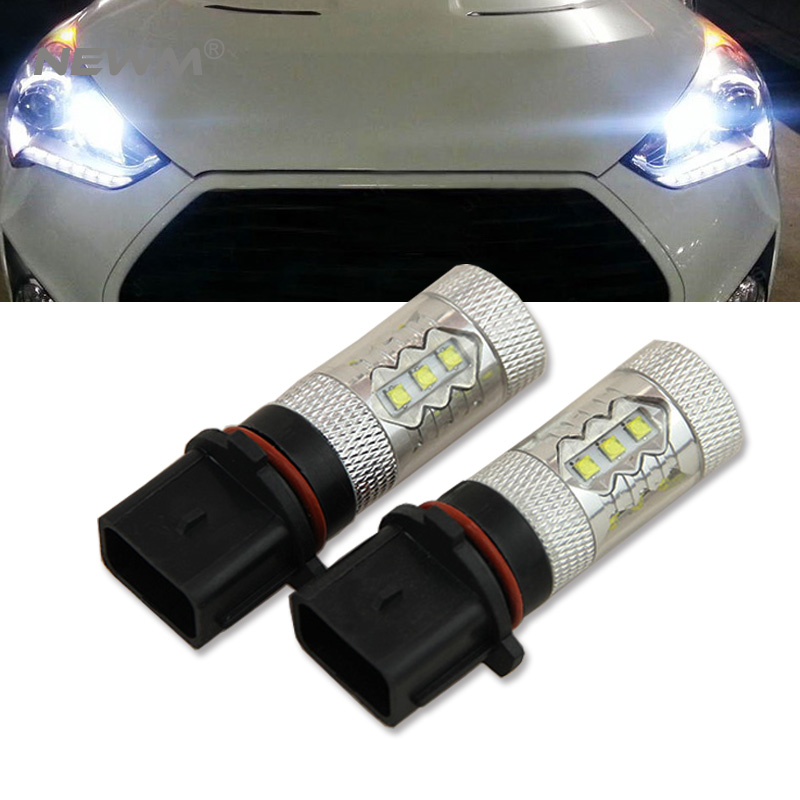 2pcs No Errors 80w R/W/Y P13W CRE'E LED Bulbs DRL For Audi B8 2008-12 model A4 or S4 with halogen headlight trims mitsubishi 100% mds r v1 80 mds r v1 80