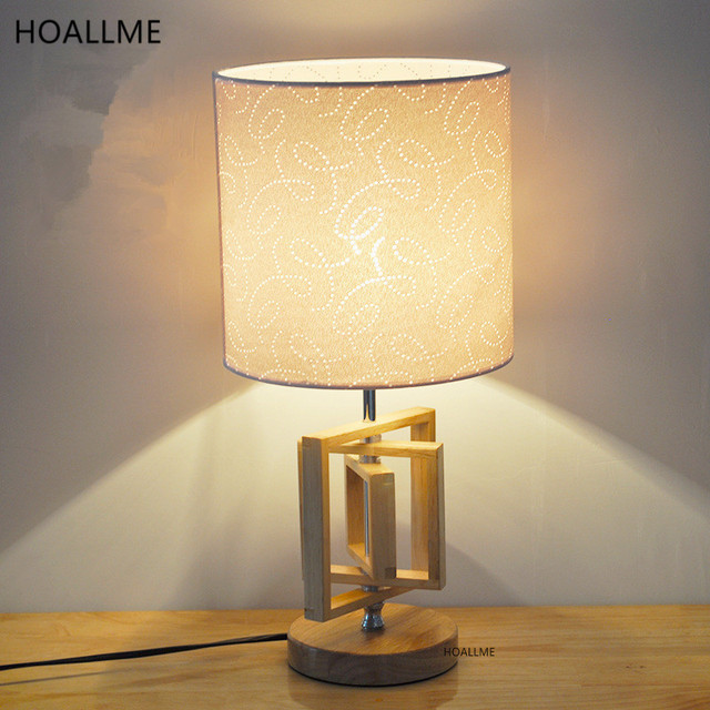 Perfect Modern LED Desk Lamp Cloth Lampshade Table Lamp Reading Study Night Light  Bedroom Bedside Lights Home
