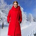 De alta calidad Por la chaqueta Mujer chaqueta de Invierno Cálido abrigo yardas Grandes estilo Mew Moda Suelta Con Capucha de pato Blanco abajo Abrigo de Invierno BN1122