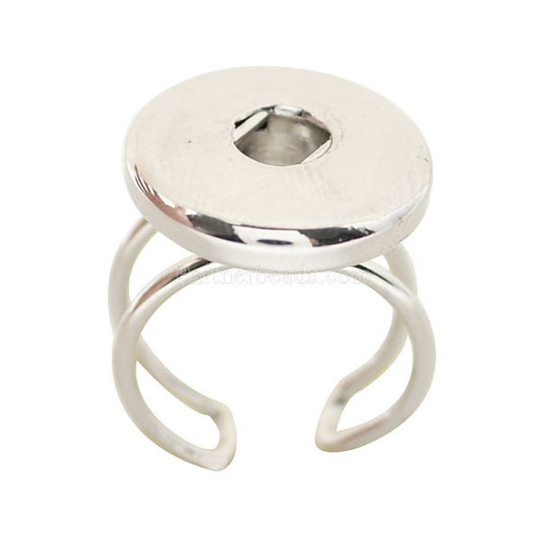 Hot sale high quality fashion DIY metal rings fit ginger 18/20 mm snap button jewelry KB0548