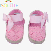 Flower Baby Girl Sandals Princess Toddler Baby First Walkers Shoes Butterfly Knot Newborn Girls Summer Sandals