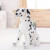 New 35'' / 90cm Large Stuffed Soft Plush Simulated Animal Dalmatians Dog Toy Great Kids Gift Free Shipping