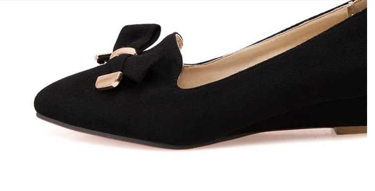 c5898274e3 Womens shoes heels and wedges platform bow low heel pumps pointed toe  zapatos hombre ladies slip-on summer plus size 14 15 13 12