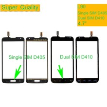 10Pcs/lot Touchscreen For LG L90 Dual D410 Single D405 D405N Touch Screen Touch Panel Sensor Digitizer Front Glass Outer Lens high quality 4 7 tested lcd for lg series iii l90 d405 d410 d415 smartphone lcd display screen tracking code free shipping