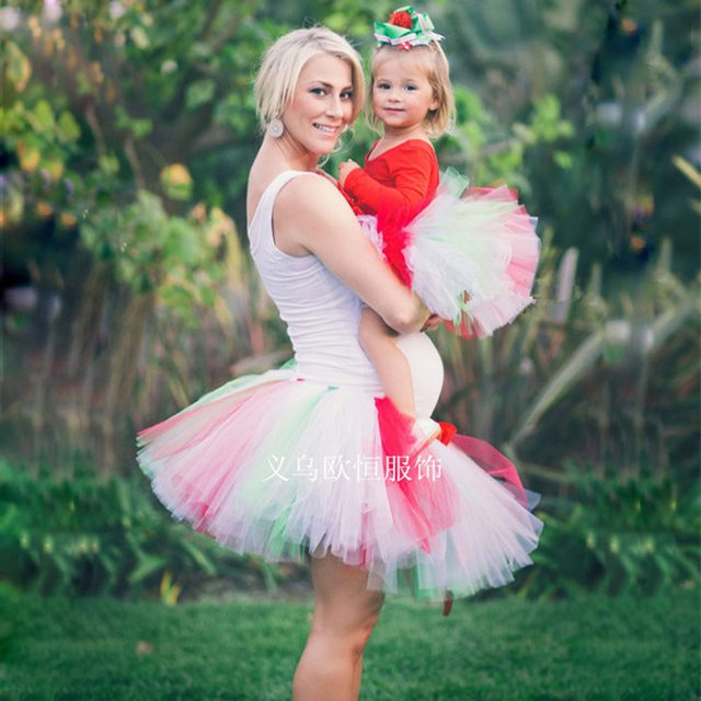 Retail High quality mother daughter dresses fashion wedding beautiful handmade Customize hundred layers tutu party dress