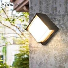 Apextech Outdoor Wall Lamp Aluminum+PMMA Doorplate Light Waterproof Balcony Porch Garden Path Way Lights For Landscape Lighting