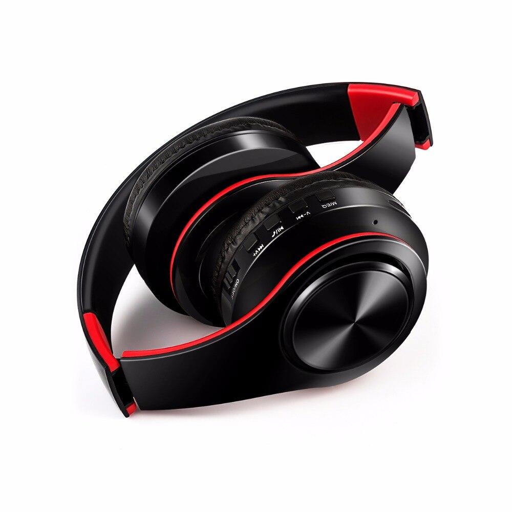 MoonlinessNew Arrivée coloré stéréo Audio Mp3 Bluetooth Casque Sans Fil Pliable Casque Écouteur soutien carte avec Micro