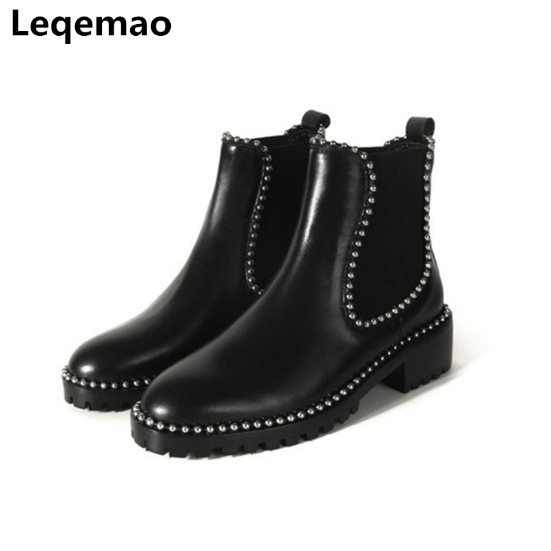 New Winter Ankle Boots For Women Shoes Fashion Soft Genuine Leather High Quality 3cm Heels Martin Boots Women Casual Shoes 34-40 women led light shoes casual shoes led luminous boots unisex genuine leather ankle boots women usb charging martin boots 35 46