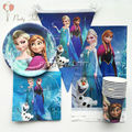 32pcs for 10 kids Elsa anna birthday party decoration tableware set, 10plate +10cup +10napkin +1banner +1tablecover