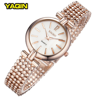 2015 New Arrive YaQin Brand Luxury Quartz Female Form Fashion Pearl Watches For Women Dress