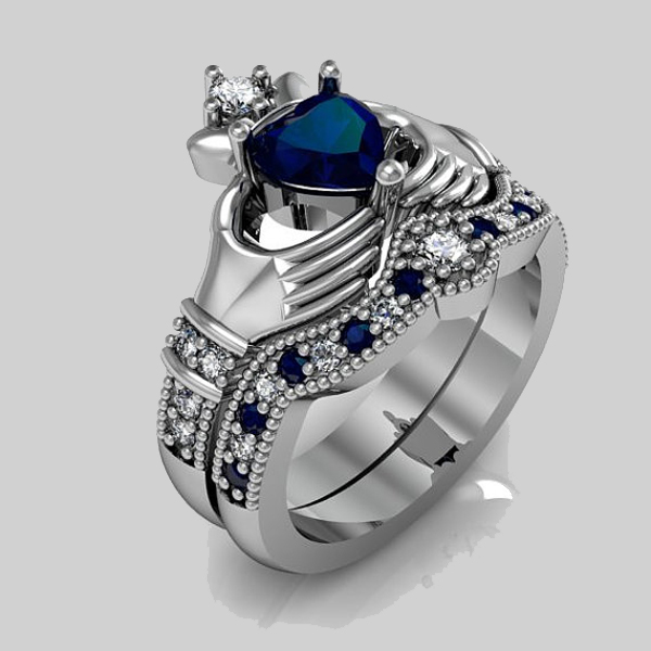Popular Diamond Claddagh Ring Buy Cheap Diamond Claddagh Ring Lots From China Diamond Claddagh