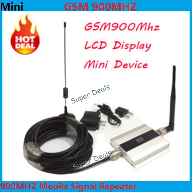 2017 1 Set 2G 900 MHz 900 mhz GSM téléphone portable signal Booster répéteur gain 60dbi LCD avec antenne N mâle pour bureau de maison