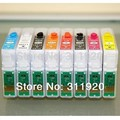 8 Colors For Epson R2000 T1590 - T1599 Refillable Ink Cartridge With ARC Chip for Epson Stylus Photo R2000