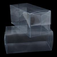 DHL площади прозрачный ПВХ термоусадочная Обёрточная бумага коробка подарочная упаковка коробка конфет прозрачного ПВХ термоусадочная Плё