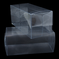 DHL Square Transparent PVC Heat Shrink Wrap Box Candy Gift Packaging Box Clear PVC Shrink Film