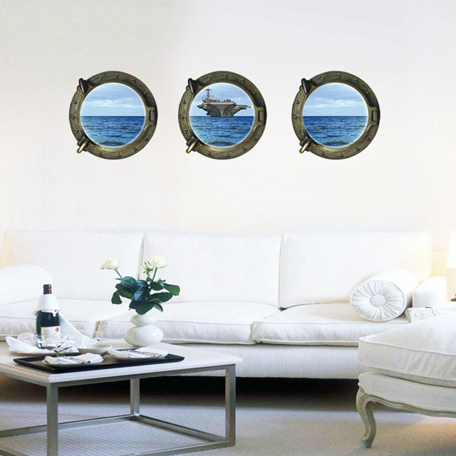 Elegant [Fundecor] DIY Home Decor Ocean Aircraft Carrier Wall Sticker Art Declas  Office Home Decorating Murals Wallpaper In Wall Stickers From Home U0026 Garden  On ...