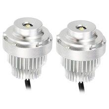 2PCSดวงตาแองเจิลไฟLED Marker 80Wไม่มีข้อผิดพลาดสำหรับBMW 5 Series E60 E61 LCI LED haloแหวนหลอดไฟชุดไฟหน้ารถจัดแต่งทรงผม