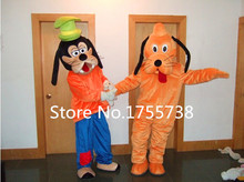 High-quality adult size Goofy Dog Mascot Costume and Pluto mascot costumes Suit Carnival Costume Free Shipping