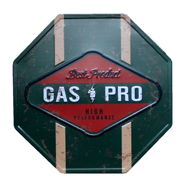 Vintage Octagonal Metal Wall Sign