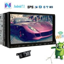 Car dvd player Android 7.1 2 Din Car Radio Video Audio Stereo Wifi Bluetooth GPS Navigation Headunit Rearview Camera included