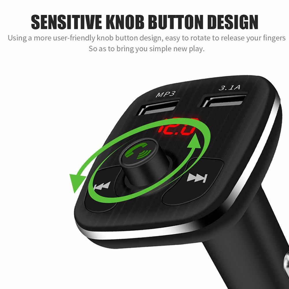 Dual Usb Port Auto Ladegeräte Bluetooth Fm Sender Led Frequenz Display Mp3 Player Mit Tf Karte Slot # t2 # zihr