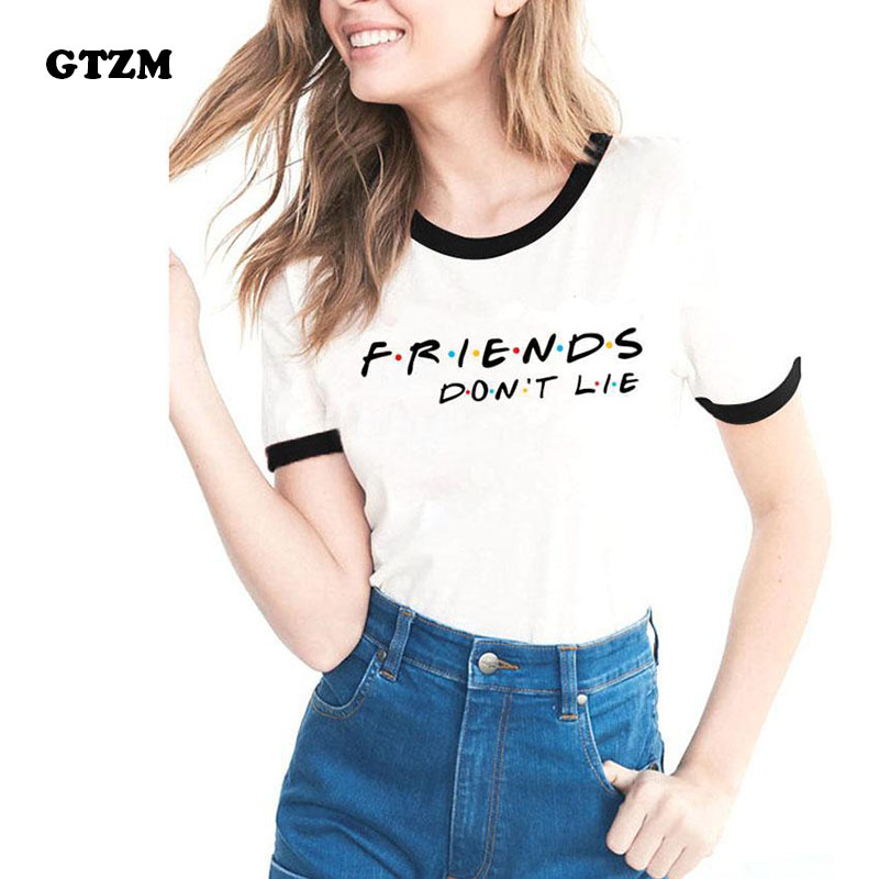 GTZM 2018 Summer Stranger Things Tshirt Women Friends Dont Lie T-shirts Printing Bts Funny Tee Shirt For Female Top Clothes