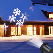 Sneeuw Vlok Projector Projectie Licht Gazon Landschap Lamp Verlichting AC110-240V 6 w 4LED Party Christmas Festival Yard Patio Tuin(China)
