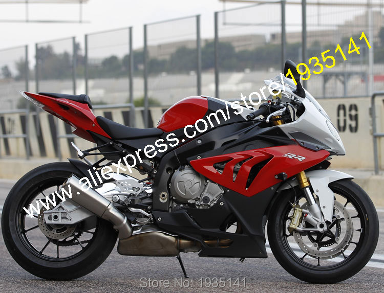 For BMW S1000RR 2010-2014 S 1000RR 10-14 S1000 RR Red Black Gray ABS Sportbike Body Fairing Kit (Injection molding) image