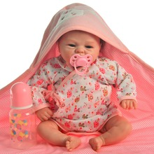 цены real 50cm Silicone Reborn Baby Doll Unique smiley design bebe Boneca Reborn Girl Doll Vinyl Body alive Kids Playmates Toys gift