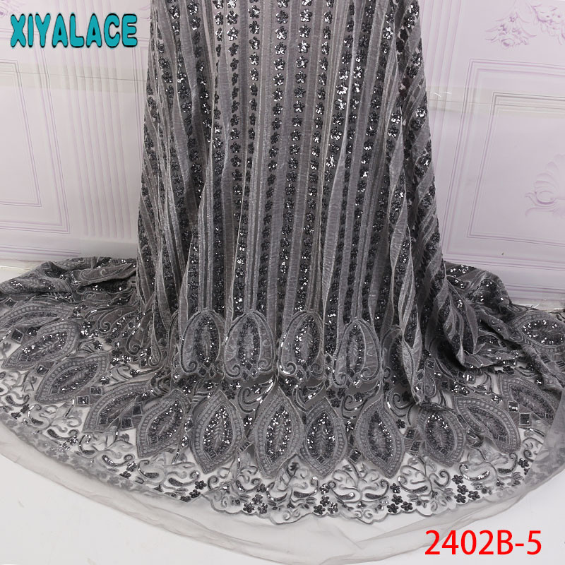 Lace Newest Organza Lace Fabrics New Arrival African Sequins Fabric For Party Dress French Tulle Lace Fabric Nigerian Wedding Dress