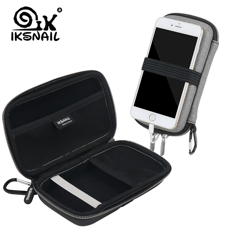 IKSNAIL Power Bank Storage Bag Electronic Organizer For iPhone Protective Bags With USB Cable Organizer Hard Drive Insert Case