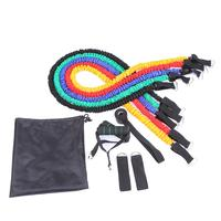 11pcs/set Fitness Equipment Pilates Tubes Pull Rope Elastic Bands Gym Workout Resistance Bands Exercise Expanders Training