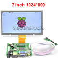Raspberry Pi 7 polegada Display LCD 1024*600 TFT Tela Do Monitor com Placa de Carro HDMI VGA 2AV para Raspberry Pi 3/Modelo 2 B/B +