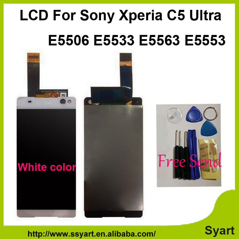 OEM lcd AAA Quality 1920x1080 LCD Touch Screen Digitizer Assembly 6.0 Display For Sony Xperia C5 Ultra E5506 E5533 E5563 E5553