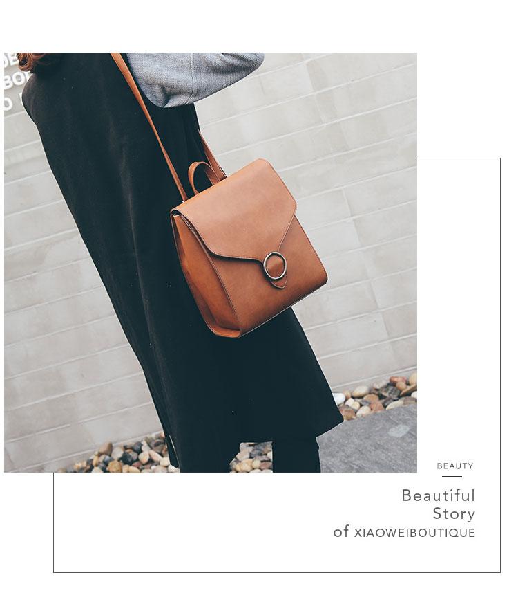 Retro Women's Rucksack Bag 23