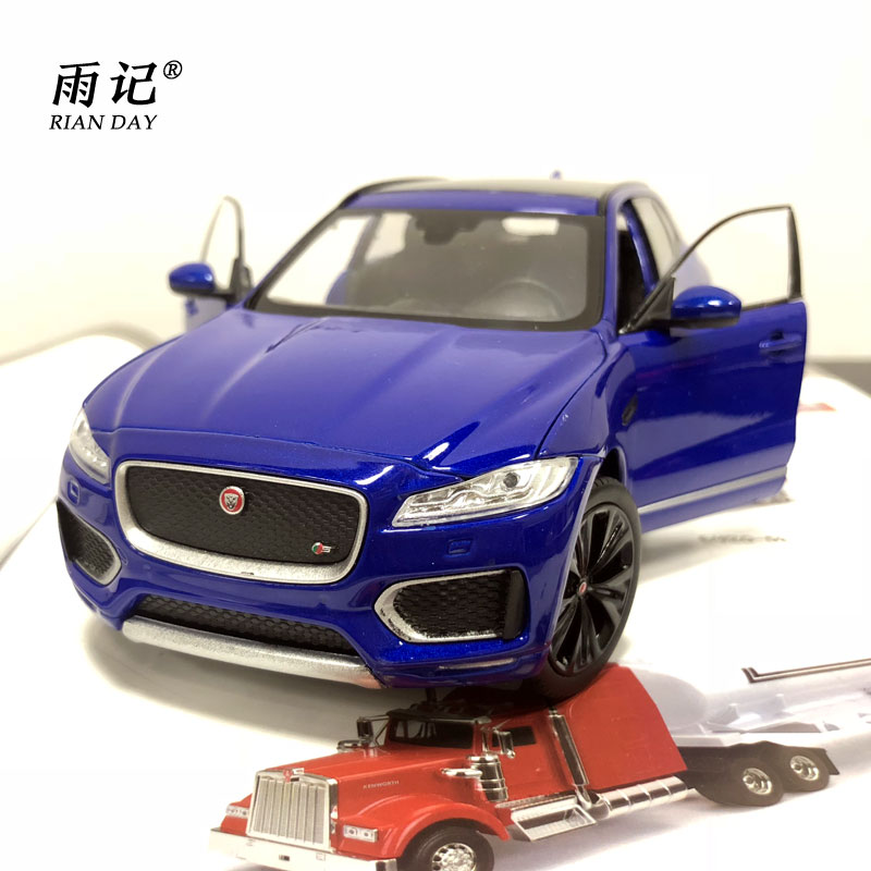 RIAN DAY 1/24 Scale Diecast Metal Car Model Toys JAGUAR F-Pace SUV Car Model Toy For Gift/Kids/Collection