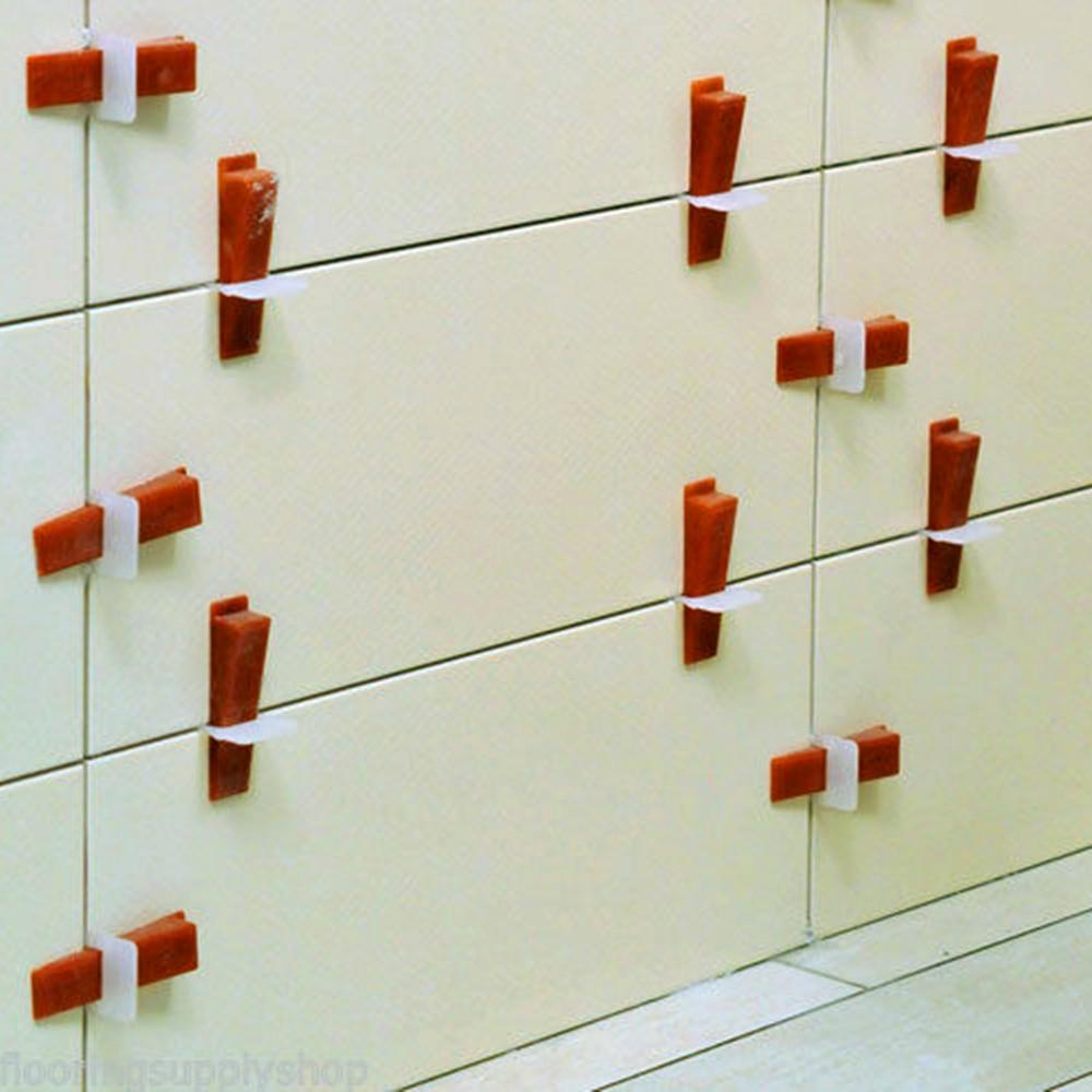 (100pcs Wedges+400pcs Clips+1set Plier) Floor Tile Leveling System Spacers Lippage Leveling System & Plier Suit 1.5mm