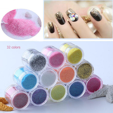 1 Jar/Box 10ml Nail Glitter Powder Multi-color Art Shinning Sugar Dust DIY Decoration UV Polish B12