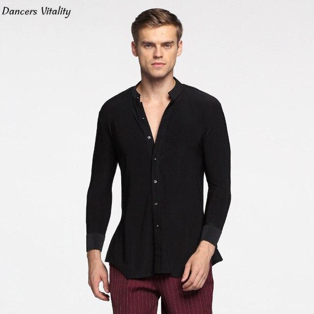 0d2eee1f74085 2017cha-cha Dancing outfit Shirt Long Sleeve Ballroom Dance Costumes Men  Shirt Professional Latin Modern