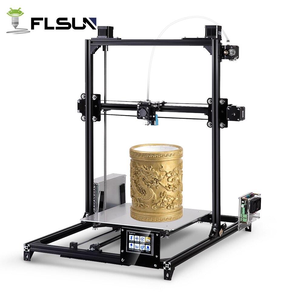 Flsun металлический каркас 3D-принтеры автоматическое выравнивание DIY 3d-printer комплект с подогревом кровать два рулона нити бесплатно