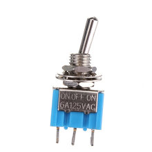 3 Pin SPDT Motors Toggle Switch On/Off/Pada AC 125 V 6A Mini Switch Lever Switch Biru(China)