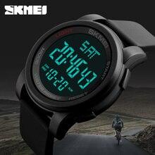 SKMEI Top Marca de Lujo de Los Hombres Relojes Deportivos Cronógrafo Cuenta Atrás de Los Hombres LED Digital Relojes Hombre Relojes Militares Relogio masculino