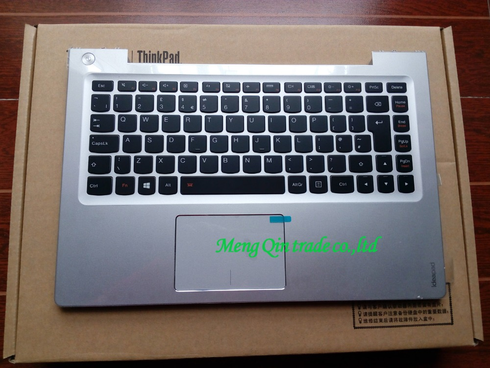 New/orig lenovo ideapad U330 U330P U330T EU keyboard bezel Palmrest topcase Upper cover,Silver 7 4v 45wh original new u330 laptop battery for lenovo ideapad u330 u330p u330t series l12m4p61 l12l4p63 21cp5 69 71 3