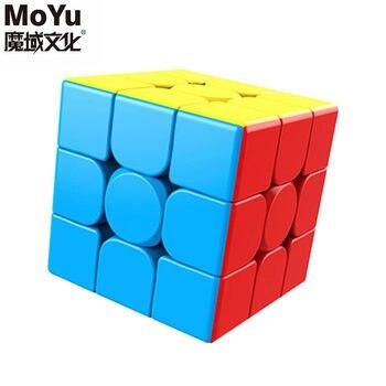 Cubo mágico sin etiqueta MoYu 3x3x3 meilong, Cubo de rompecabezas, cubos de Velocidad Profesional, juguetes educativos para estudiantes